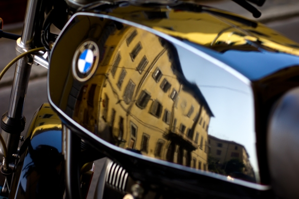 Motorcycle Reflection Florence