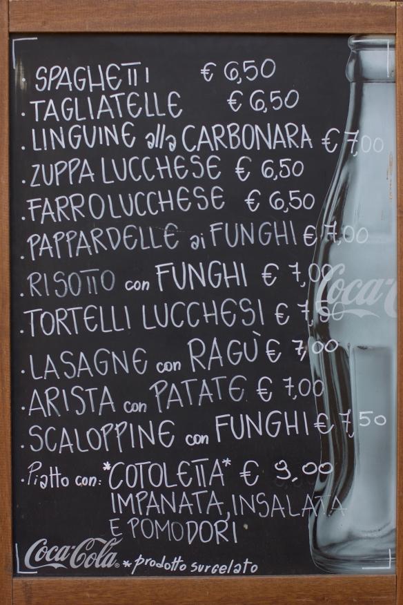 Lucca Menu